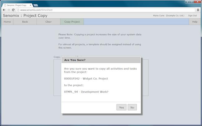 project copy prompt