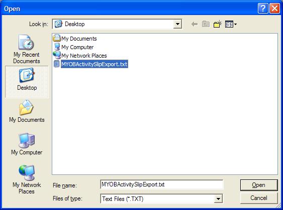 myob file open