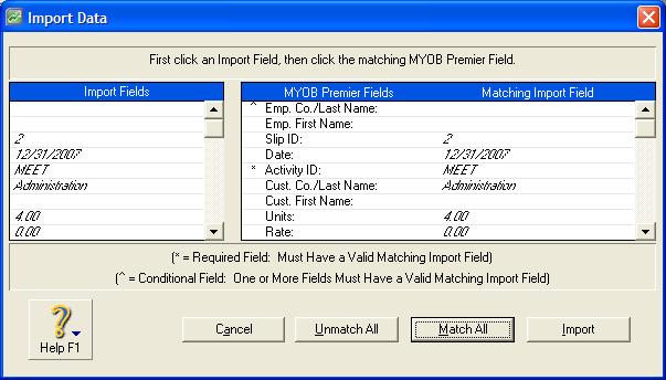 myob import alignment