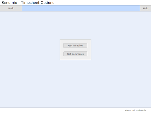 Timesheet read-only options