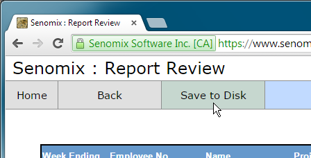 report review options