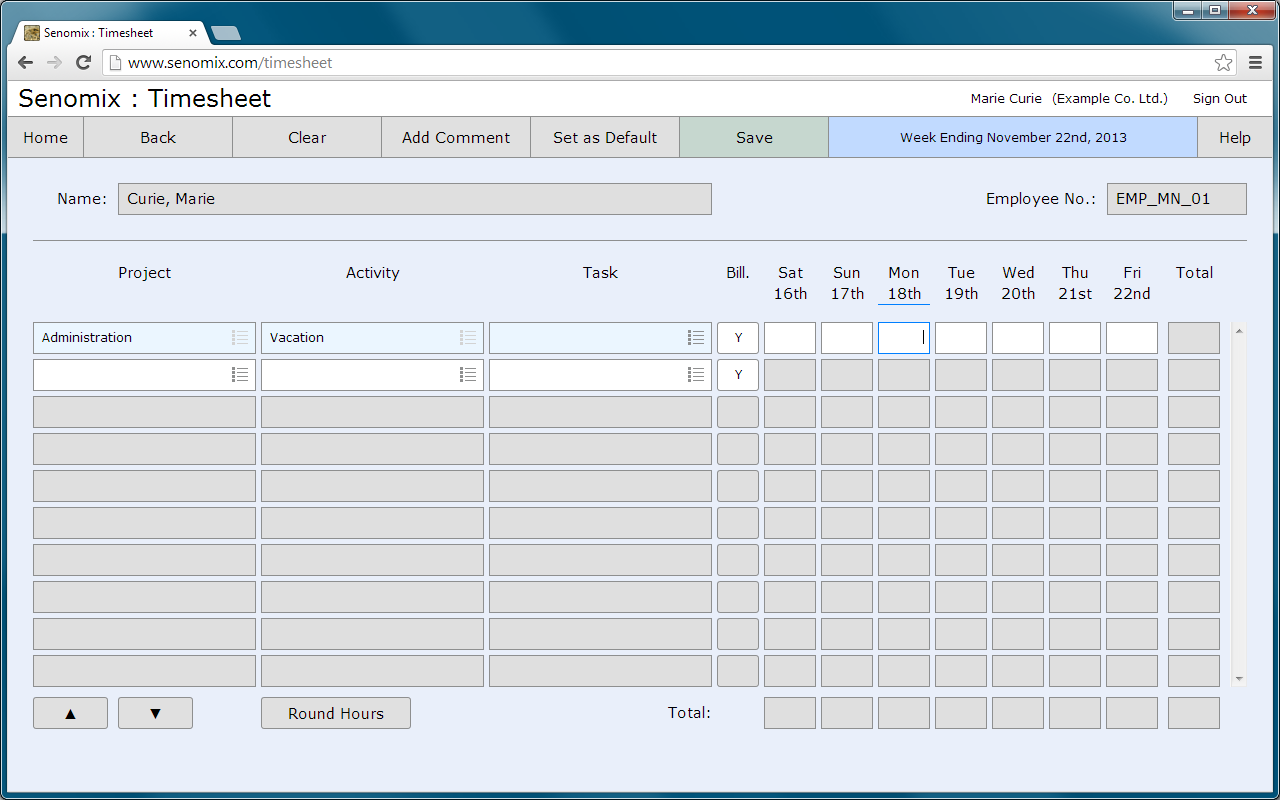 Senomix Timesheets v51 Guide for Time and Expense Entry – Timesheet Design