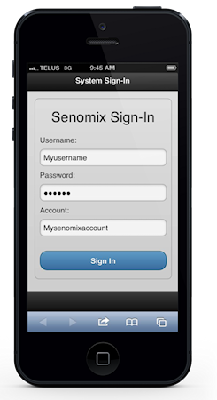 iPhone mobile sign-in
