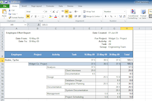 Create reports in Microsoft Excel
