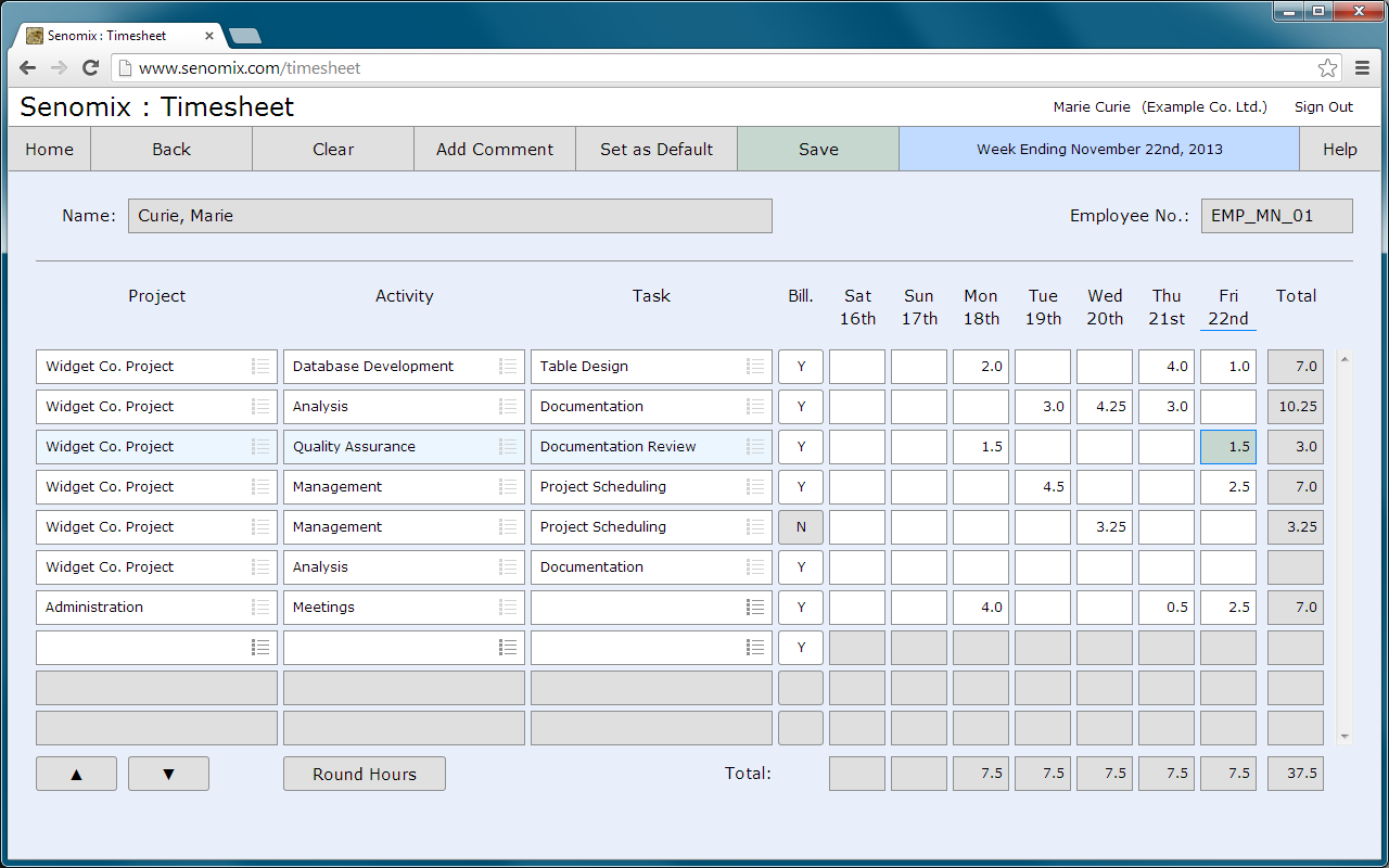 Senomix Timesheets simplifies your billing and payroll process ...